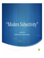 UL EAS284 Week 5 Modern Subject.pdf