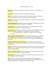 Vocabulary Chapters 1 PSYC