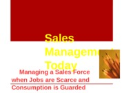 An Introduction to Sales Management 2013