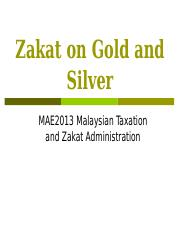 Zakat on Gold and Silver.ppt