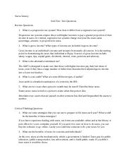 Unit Five Text Questions