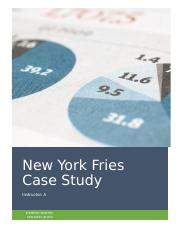CASE STUDY NEW YORK FRIES processing