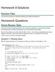 cs61a homework 8 solutions