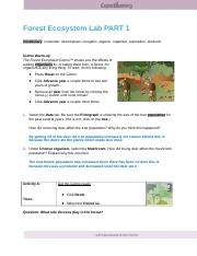 Copy of Forest_Ecosystem_SE - Forest Ecosystem Lab PART 1 ...