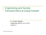17 - Personal Ethics & Going Forward - 2