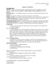 MYERS, Social Psyc, Chp 12 outline-notes