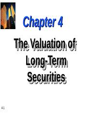 ch4-The-Valuation-of-Long-Term-Securities.ppt