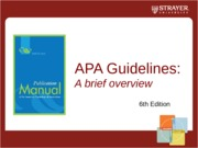 APA 6th Edition PowerPoint