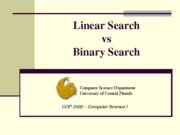 Linear, Binary Search