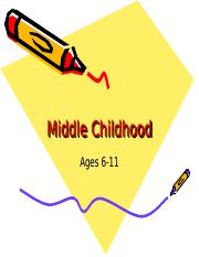 Middle Childhood (2)