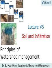 Lecture#5. Soil and infiltration-Dung (1)