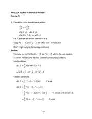 Exercise 5 Solutions