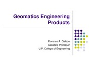 GE 1 - Geomatics Engineering Products