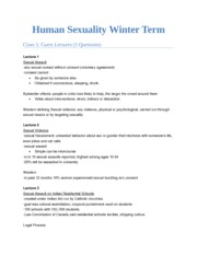 Human Sexuality Winter TermL5
