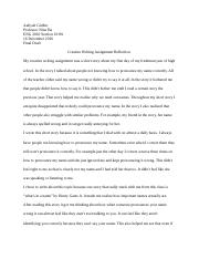 Creative Writing Reflection .docx