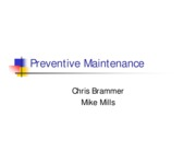 Preventive Maintenance-Presentation