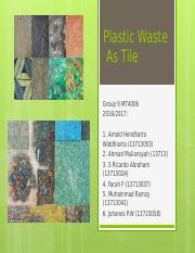 Proposal Plastic Waste+ Results