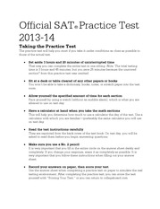 Official SAT 2013-2014 Practice Test