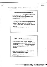 The Symbolic Interaction Perspective Notes