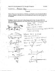 Exam 2 solutions fall 2006