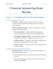 Financial Accounting Exam Review