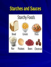 Lecture 10 - Starches and Sauces(1)