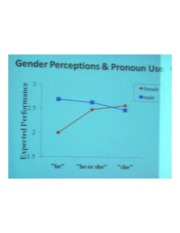 PSYCH 360 Social Psychology - Gender perception & Pronoun Use Graph II