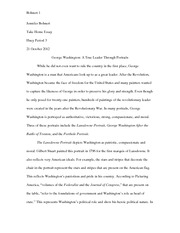 Post Revolutionary Art Take Home Essay