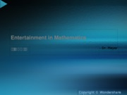 Entertainm2ent in Mathematics