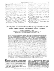 vist and davis 2H NMR cholesterol phase biochemistry 1990