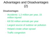 motor vehicles and the environment