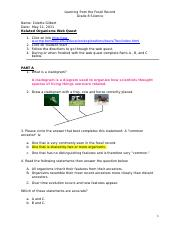 Cg Related Organisms Webquest 4 1 Doc Learning From The