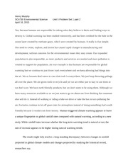 Global warming homework help