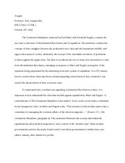 joshua morris chapter 17 essay - karl marx and friedrich engels criticisms of industrial capitalism.