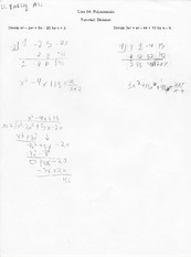 Homework on polynomial divisions