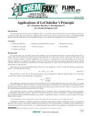 13 - Applications of LeChâtelier's Principle, AP7659