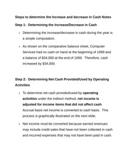 Steps to determine the Increase and decrease in Cash Notes