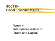 WK4- Internationalization of Trade and Capital (SOC135-111)