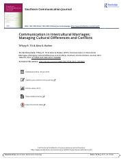 Communication in Intercultural Marriages Managing Cultural Differences and Conflicts