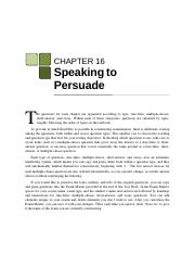 The is the obligation of a persuasive speaker to prove that a change