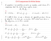 Math 104 Ch10 Sequences