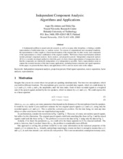 Hyvärinen, Oja, 2000, Independent component analysis algorithms and applications.pdf