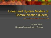 1-2 linear or system models of communication