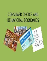 5.Consumer Choice and Behavioral Economics
