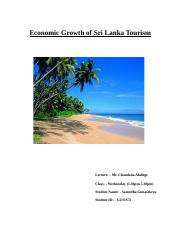 Economic Growth of Sri Lanka Touris new.docx