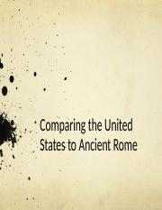 Comparing the United States to Ancient Rome