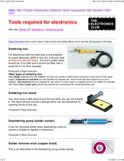 Tools required for electronics
