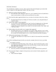 Chapte 1 Worksheet