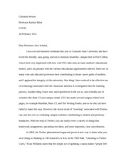A2 assignment open letter
