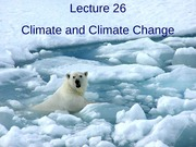 Lecture 26 - Climate